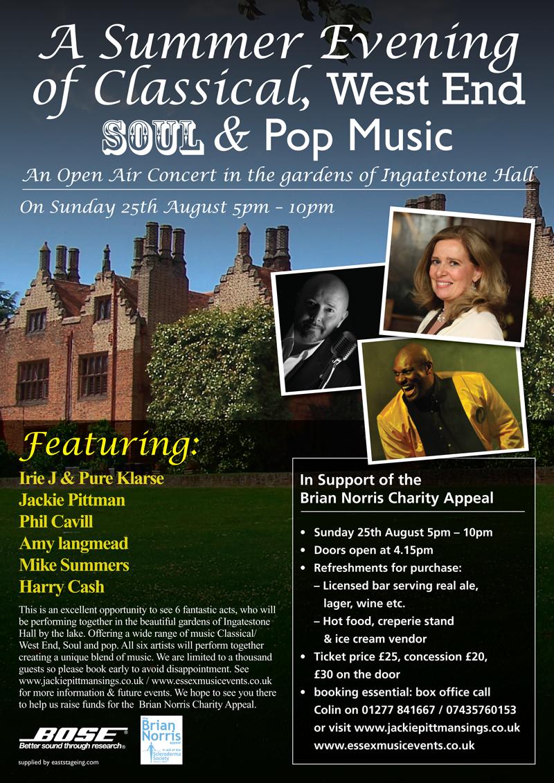 Open Air Concerts Essex Hertfordshire